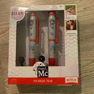 Pen walkie talkie set